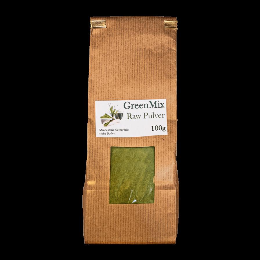 Produktbild von wholyfood: Eine Packung Green Superfood Mix Pulver