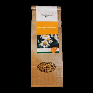 Produktbild von wholyfood: Eine Packung Kamillen Blüten Tee