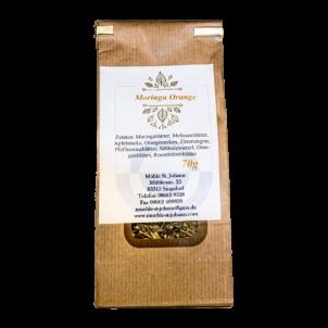 Produktbild von wholyfood: Eine Packung Moringa Orangen Tee