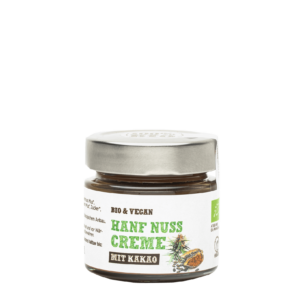 Produktbild von wholyfood: Eine Flasche Hanf Kakao Aufstrich
