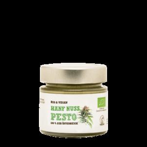 Produktbild von wholyfood: Eine Flasche Hanf Pesto