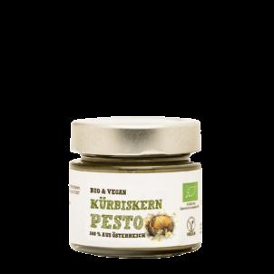 Produktbild von wholyfood: Eine Flasche Kürbiskern Pesto