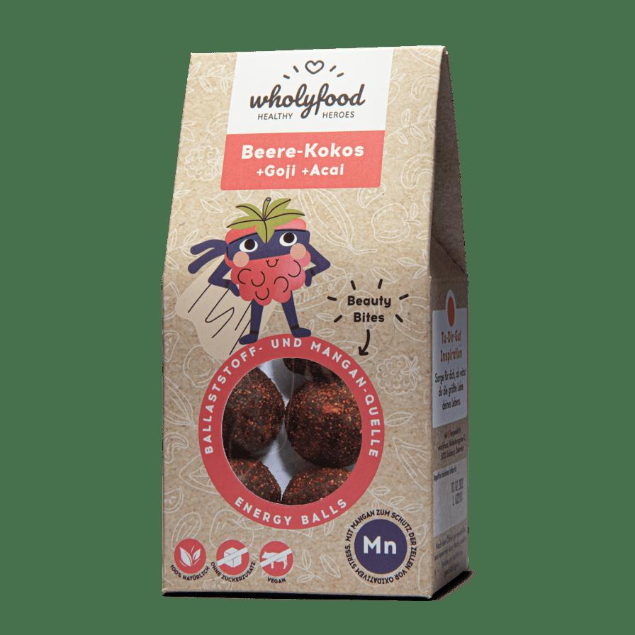 Energy Balls Packung Beere-Kokos